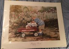 Puppy Love by Donald Zolan 2003 Print.  Radio Flyer