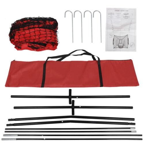 Pro-Style Batting Tee 7/'×7/' Baseball Softball Practice Net w//Bag /& Bow Frame
