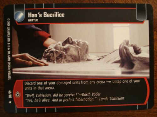 Star Wars TCG R/&S 4x Han/'s Sacrifice