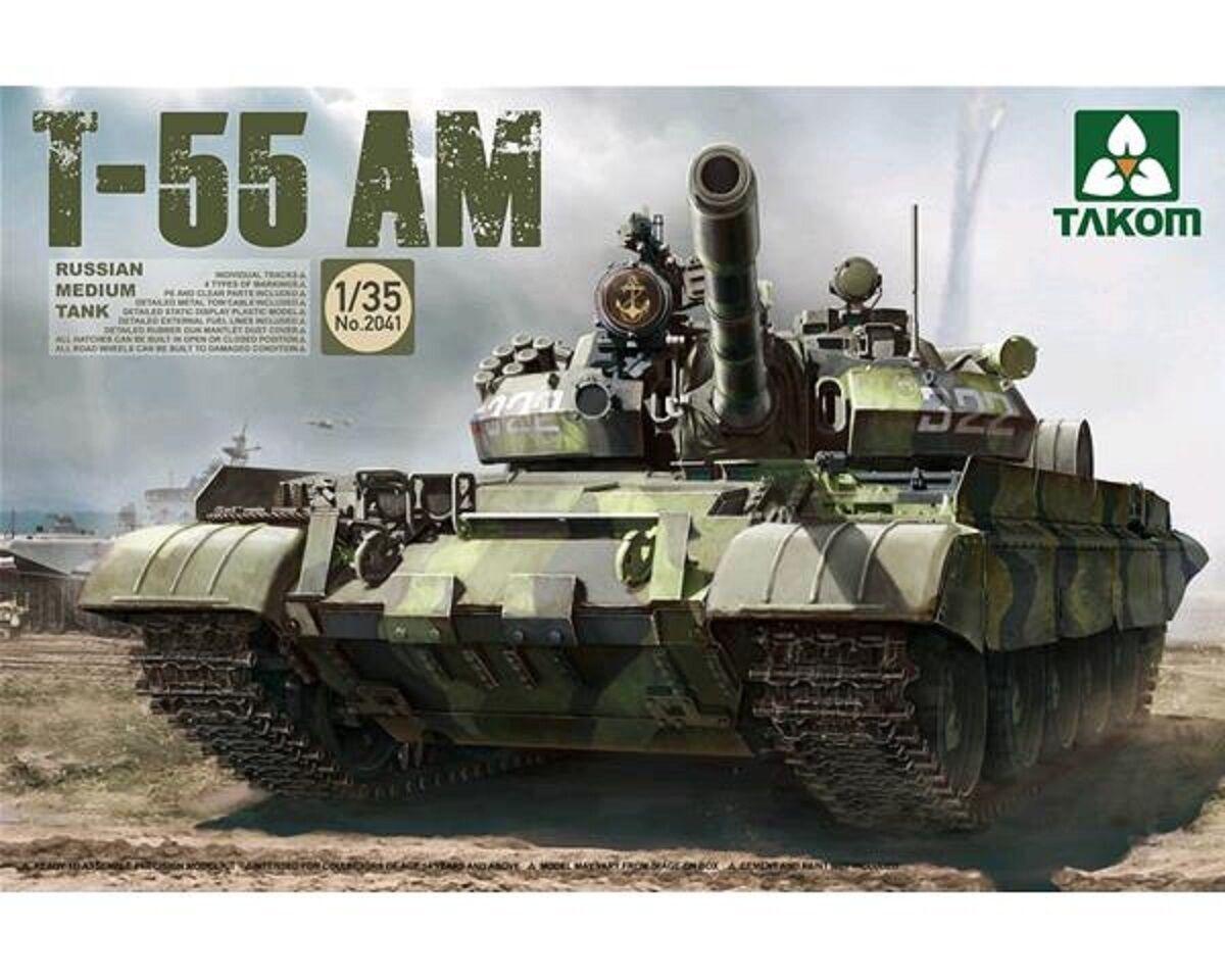 TAKOM RUSSIAN MEDIUM TANK T-55 AM 1 35 COD.2041
