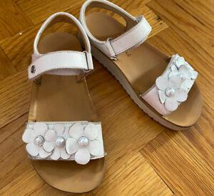 Naturino Girls White Leather Sandals