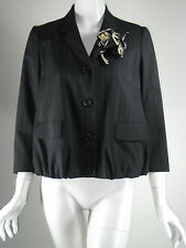 MOSCHINO CHEAP AND CHIC Black Button Front Pinstripe Jacket Size 6
