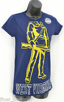 Pro Edge West Virginia University Wvu Mountaineers Ladies T- Shirt Top Sz S
