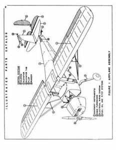 Details about 1954 Cessna 120 &140 Illustrated Parts Catalog Manual