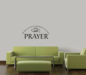 Family That Prays Together Stays Together Home Wall Quote Decal
