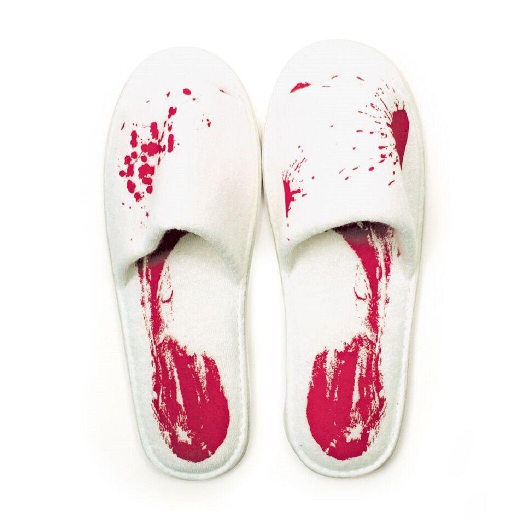 Blutbad rot Hausschuhe Bad Halloween Slippers Badelatschen Gift Republik