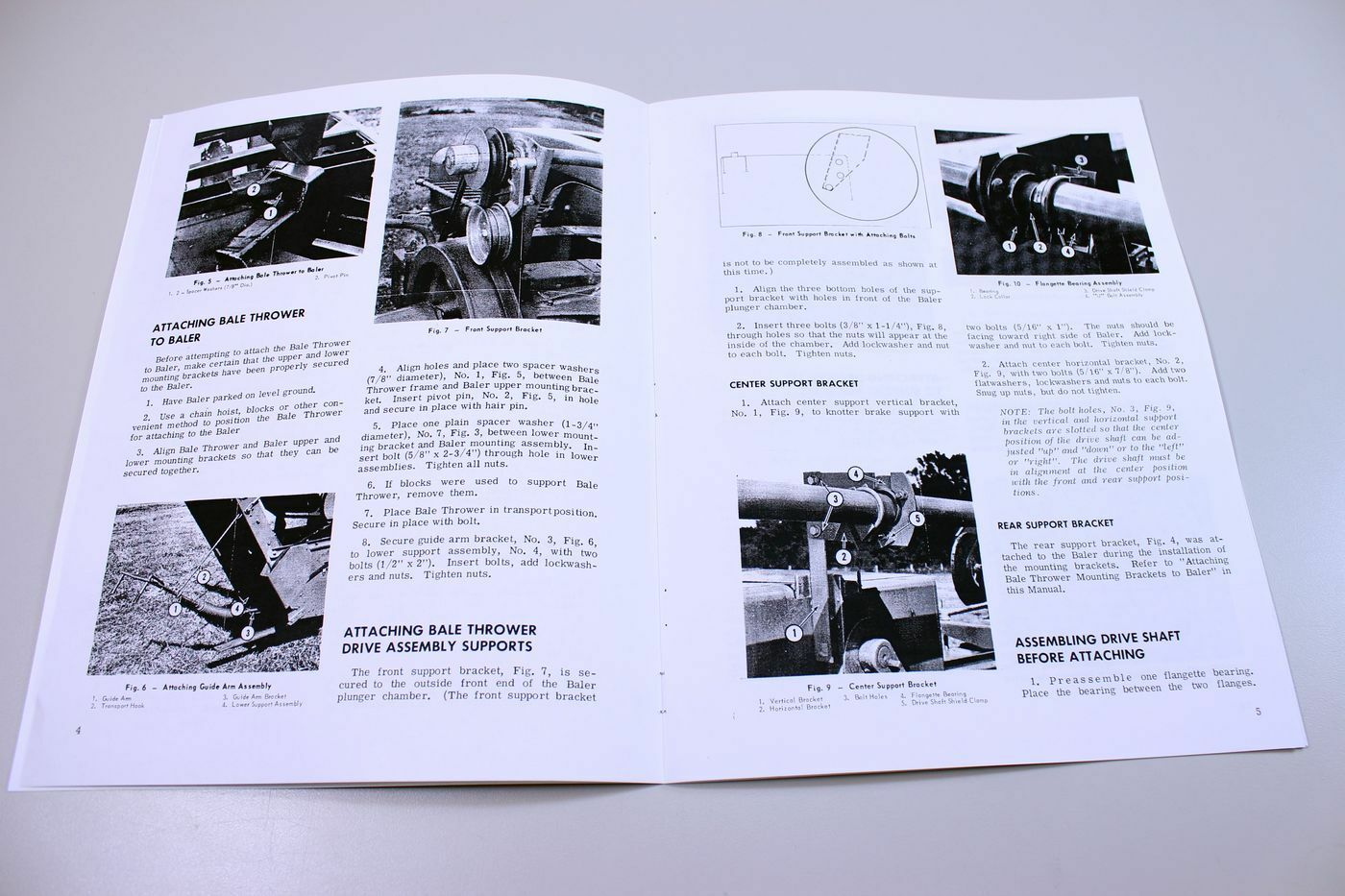 Massey Ferguson 22 PTO Bale Thrower operator/'s manual