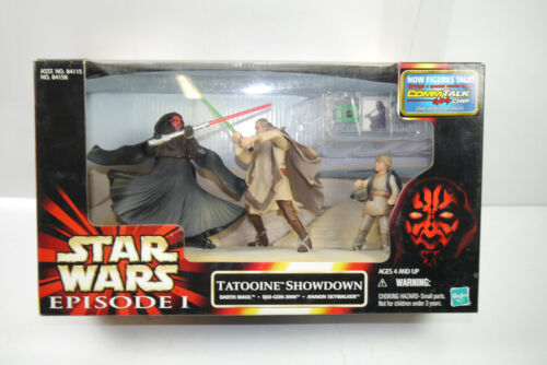 Star Wars Episode I Tatooine Showdown Darth Maul QuiGon Jinn Hasbro New Ovp L