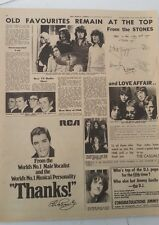 ROLLING STONES ELVIS LOVE AFFAIR 1968 ARTICLE / clipping
