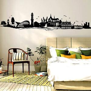 10754 wandtattoo loft aufkleber rostock skyline warnem nde ostsee leuchtturm ebay. Black Bedroom Furniture Sets. Home Design Ideas