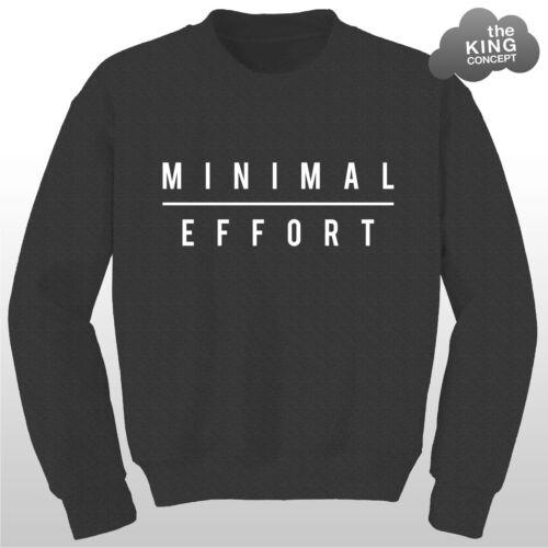 Uno sforzo minimo Felpa Lazy sweater donna maglione da uomo Slogan unisex regalo nuovo