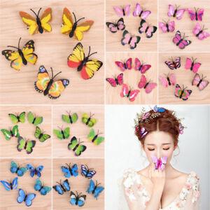 5//10X Butterfly Hair Clips Beauty Bridal Wedding Photography Hairpins Decor aa