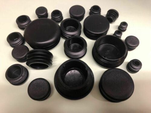Acanalado Redondo insertos de plástico. agujero desagües Surtido Negro