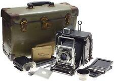 Speed Graphic Kodak Ektar 4.5/101mm lens large format bellows folding camera kit