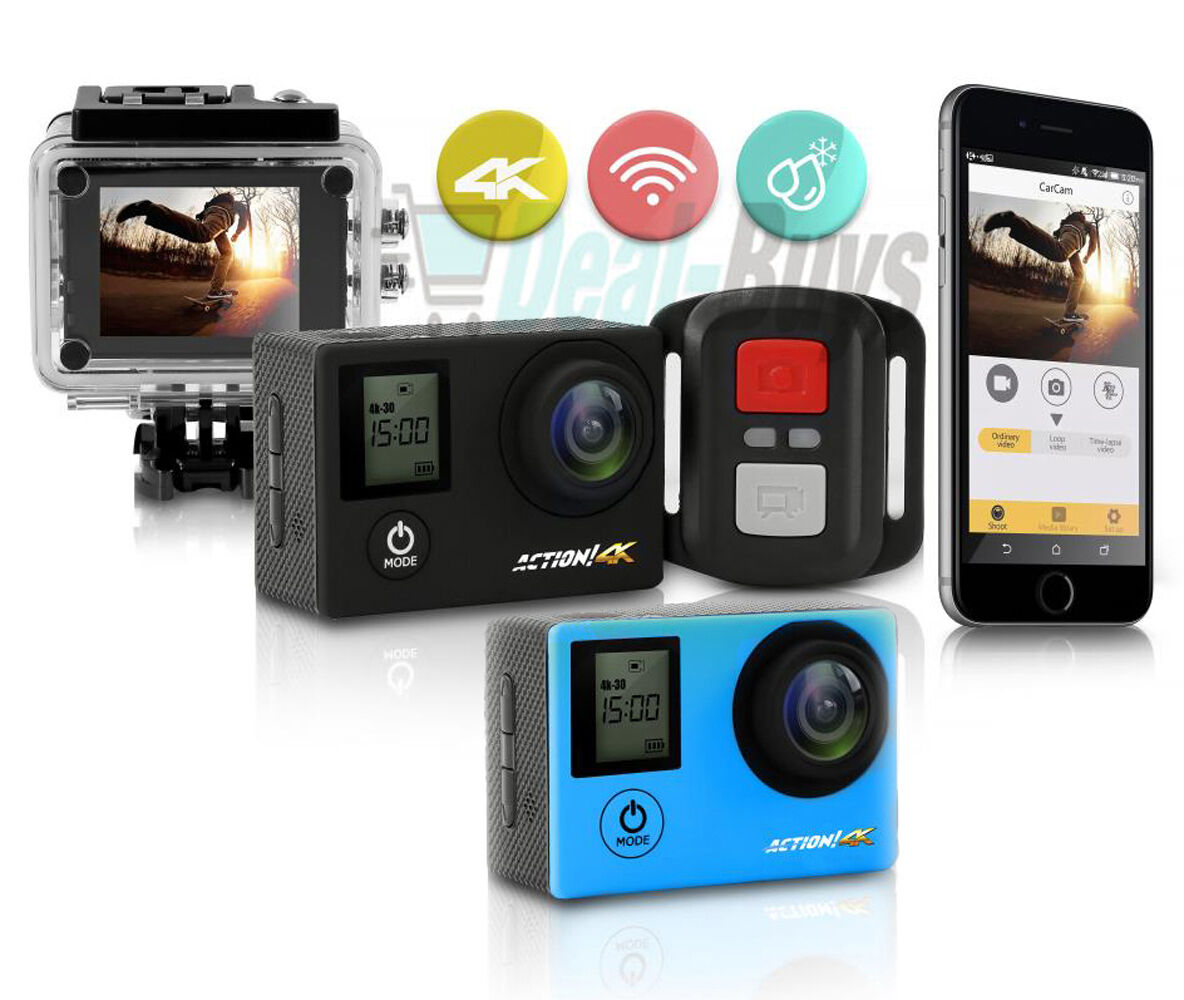 Serene-Life SL4KDS 4K Ultra HD WiFi Camera 1080p+ Action Camera Featured