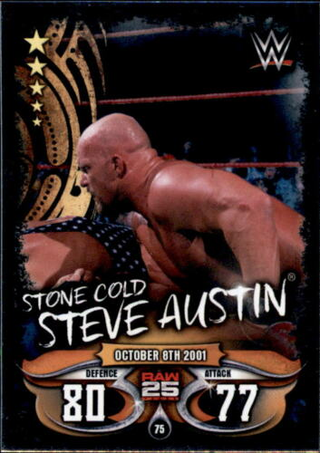 Topps Slam Attax Live Raw 25 Years Stone Cold Steve Austin Karte 75