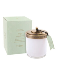 NEW-MOR-Fragrant-Candle-380g-Basil-amp-Geranium