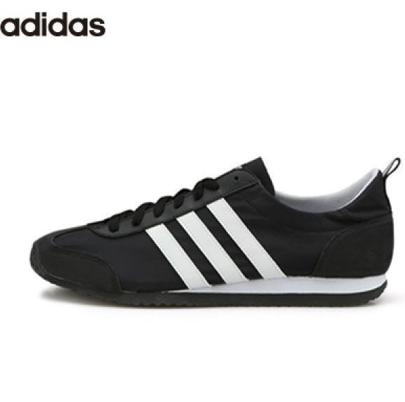 Adidas VS Jog Black Fashion Sneakers, Running shoes AQ1352