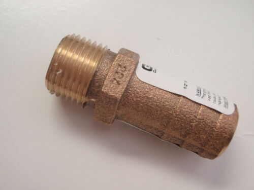 "PIPE HOSE ADAPTER BARB CAST BRONZE 34 FF500 FULL FLOW 1//2/"" PIPE 3//4/"" HOSE BARB"