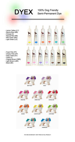 NEW DYEX Dog Hair Dye Gel Various Color Easy /& Quick 150g Non Toxic item Pet