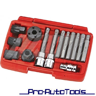 Mercedes Benz BMW Alternator Freewheel Pulley Removal Engine Tool Set Kit