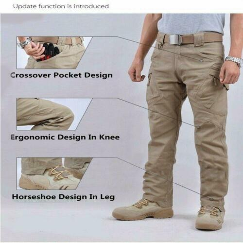 IX9 Men Military Tactical Cargo Pants Swat Army Training Hiking Trousers szS-2XL