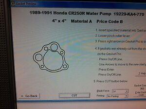 Honda CR250R Water Pump Gasket 1985 1986 1987 1988 1989 1990 1991 19229-KA4-770