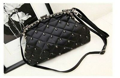 New Skull Handbag Clutch Evening Bag Pu Leather Purse Wallet