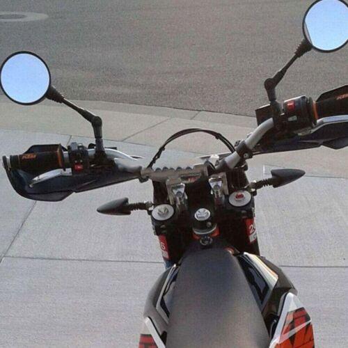 Filetage 10 mm Miroir Pliant Pliable Vue arrière latérale Miroir Rond Pour Moto