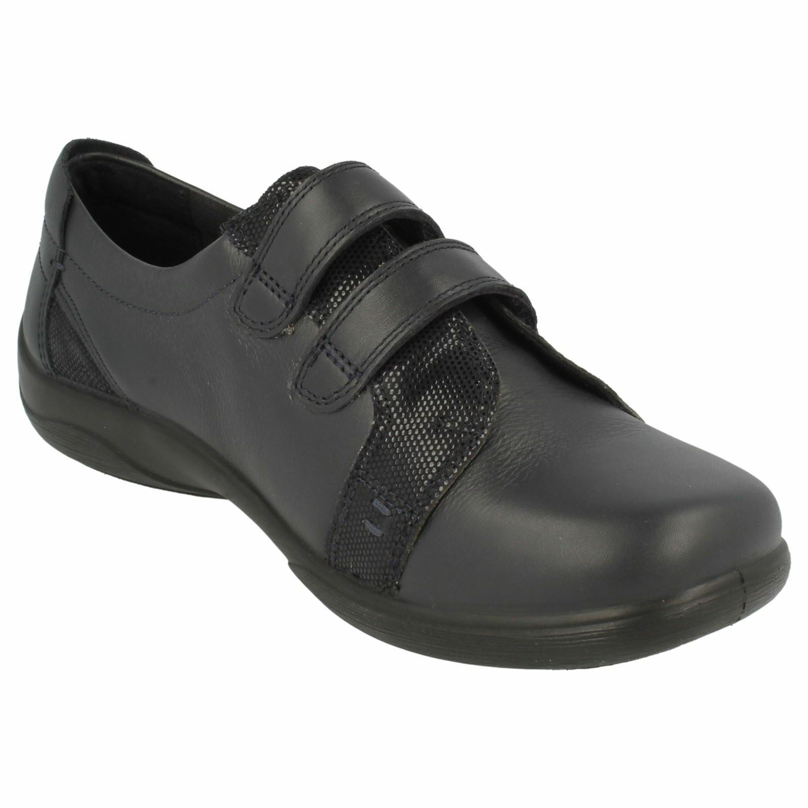 mujer ADHESIVO Padders Leather CIERRE ADHESIVO mujer CIERRE Zapato Dual Fit Verso d9547c