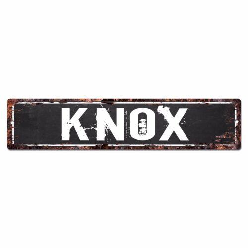 SLND0724 KNOX Street Chic Sign Home man cave Decor Gift Ideas