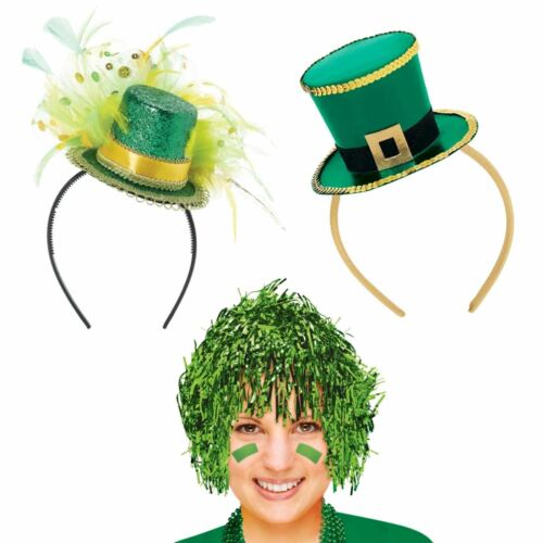 Patrick/'s Day Parrucca Fancy Cerchietto BOPPER CAPPELLO FOLLETTO PARTY ACCESSORI St