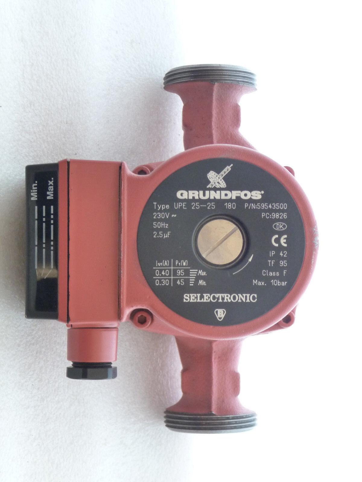 Grundfos UPE 25 - 25 Heizungspumpe 180 mm mm mm Umwälzpumpe  230 Volt  NEU P5567/18 83a01c
