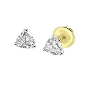 18Carat-Yellow-Gold-Diamond-Quarter-Carat-Pair-Ear-Studs-0-25cts-G-SI1-Unisex