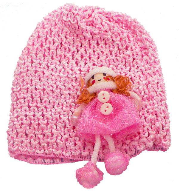 Bella Baby Stretchy Knitted Bonnet Hat with Flower Applique U16250-6259