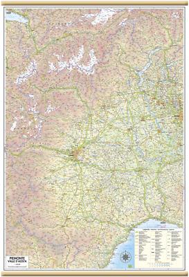 Cartina Geografica Piemonte Valle D Aosta.Carta Geografica Murale Regione Piemonte Valle D Aosta 67 X 100 Cm Belletti Ebay