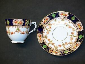 Salisbury-Bone-China-Cup-amp-Saucer-Made-in-England-Gold-Trimmed
