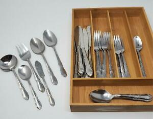 29-pc-Oneida-Rogers-FENWAY-Stainless-Flatware-Knives-Forks-Teaspoons-Spoons