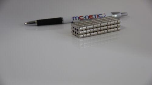 10 Stück Neodym Scheibenmagnete Magnetscheiben 6x5 mm N45 vernickelt sehr stark