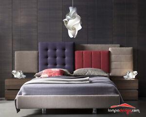 Details zu SET Lampadario moderno design camera da letto SENSITIVE + 2  Lampade comodino