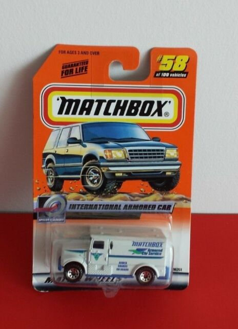1999 Mattel Wheels Matchbox Speedy Delivery International Armored Car #58