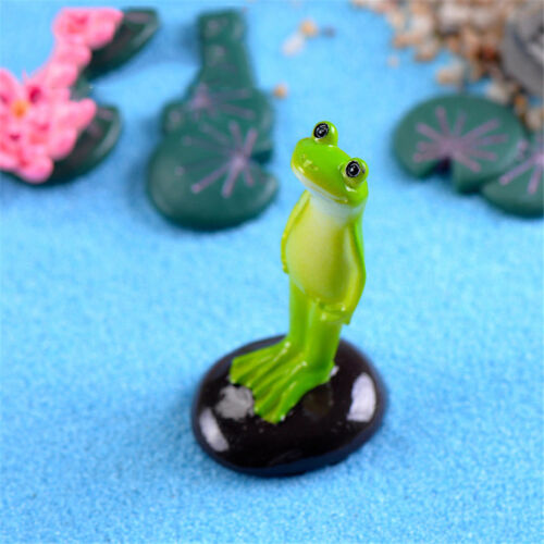Standing Frog Miniature Fairy Garden  Decoration Craft Landscaping Accessory CUV