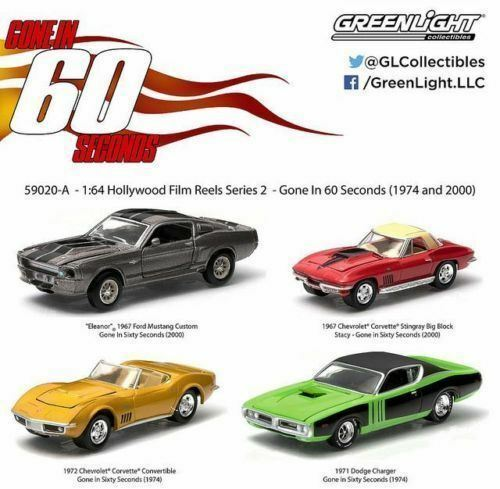 /'16 GREENLIGHT 1967 CHEVY CORVETTE LOOSE 1:64 SCALE GONE IN 60 SECONDS SERIES