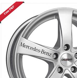 mercedes benz car alloy wheel windowwing mirror decal