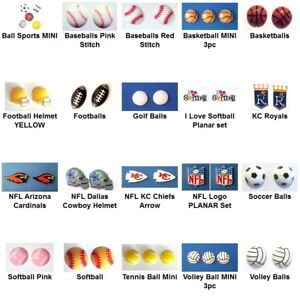Resin-Flatback-SPORTS-Cabochons-Embellishment-You-Chose-Style-for-Craft-amp-Bows