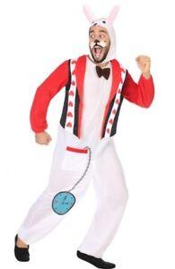 Déguisement Homme Lapin Blanc Xl Costume Animal Dessin Animé Alice Neuf Pas Cher Avoir Un Style National Unique