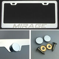 One Mirage Laser Engraved Stainless Steel License Plate Frame Chrome Screw Cap