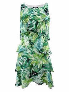 SL-Fashions-Women-039-s-Printed-Tiered-Shift-Dress