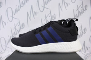 363227cc7 WOMENS ADIDAS ORIGINALS NMD R2 SZ 5.5 CORE BLACK INDIGO BLUE CLEAR ...