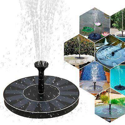Fontaine Solaire à Eau Panneau Pompe Flottante sans fil Extérieur jardin étangs   eBay